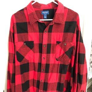 ARIZONA XXL men's flannel plaid shirt red